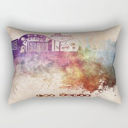 Las Vegas skyline art Rectangular Pillow
