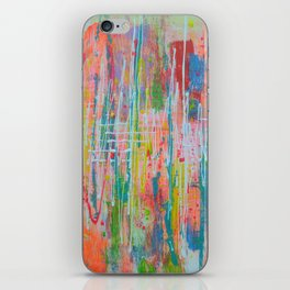 Wildflowers - abstract expressionism prophetic art - contemporary modern art iPhone Skin