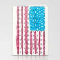 american flag Stationery Cards featuring American Flag by Caleb Boyles