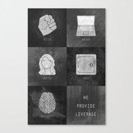 We Provide Leverage Canvas Print