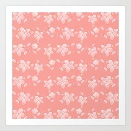 Sakura Pattern Art Print