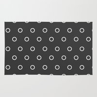circles Area & Throw Rugs featuring Circles by NobuDesign