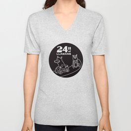 24H of Llamans Unisex V-Neck