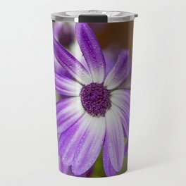 Purple Droplets Travel Mug