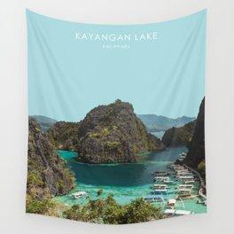 Kayangan Lake, Philippines Travel Artwork Wall Tapestry