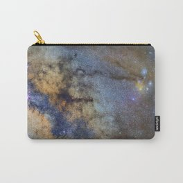 The Milky Way and constellations Scorpius, Sagittarius and the super big red star Antares. Carry-All Pouch