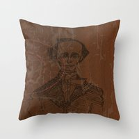 wes anderson Throw Pillows featuring Hans Christian Anderson by Hazel Bellhop