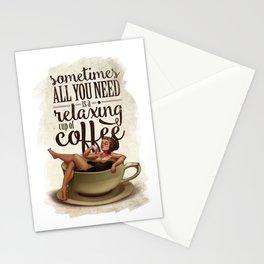 Coffee Lady Stationery Cards