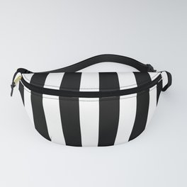 Classic Black and White Football / Soccer Referee Stripes Fanny Pack
