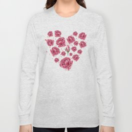 Floral heart of roses Long Sleeve T-shirt