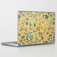 sewing Laptop & iPad Skins featuring Sewing tools by Catru
