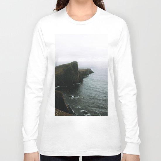 Neist Point Lighthouse II - Landscape Photography Long Sleeve T-shirt