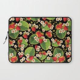 Strawberries Botanical Laptop Sleeve