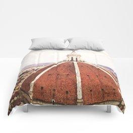 Duomo - Hazy, Florence Photography Comforters
