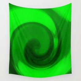 Green tie dye Wall Tapestry