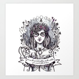 We are the witches Art Print