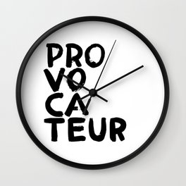 PROVOCATEUR Wall Clock