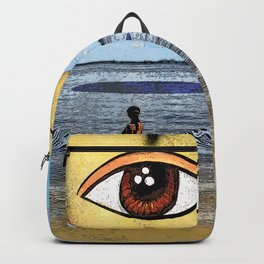 The Woman and the Eye apple Backpack