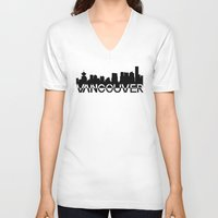 vancouver V-neck T-shirts featuring Vancouver  by Allison Kiloh