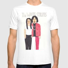 The White Stripes Mens Fitted Tee White MEDIUM