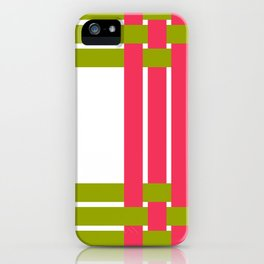The intertwining pink and green ribbons iPhone Case