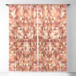 Hot triangle mandala Sheer Curtain