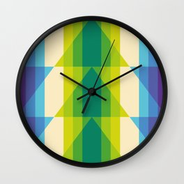 rhomboid echo rolling shutter Wall Clock
