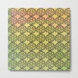 Doodle flowers on pastel background Metal Print