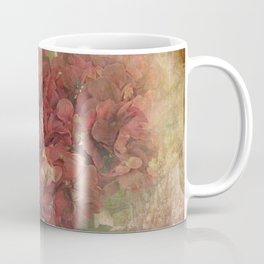 Vintage Red Hydrangea Flowers In Paris Coffee Mug