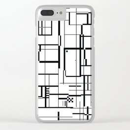 minima Maze. Clear iPhone Case