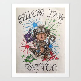 Sellers Ink Tattoo logo Art Print