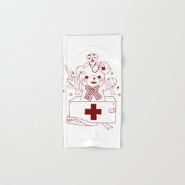 The Adventures of Bear and Baby Bear-Who's hurt? Hand & Bath Towel