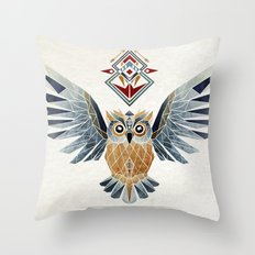 owl winter Throw Pillow