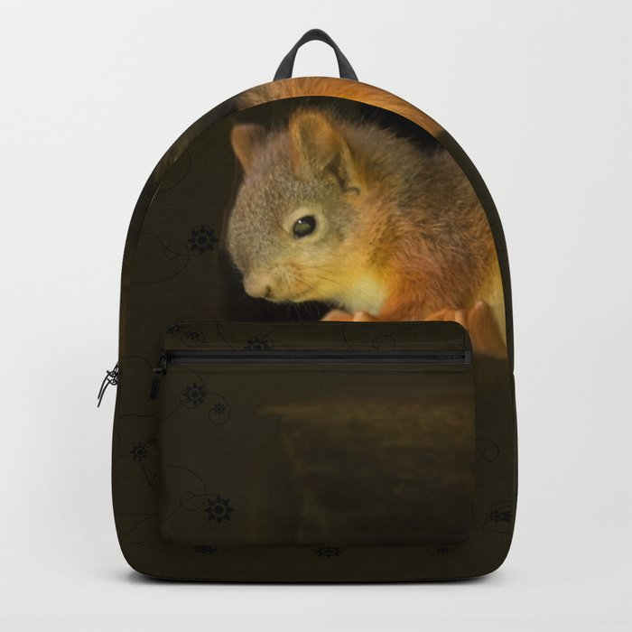 Young squirrels peering out of a nest #decor #buyart #society6 Backpack