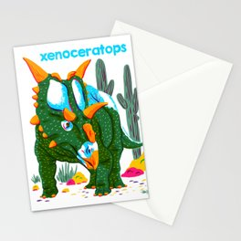 X is for Xenoceratops Stationery Cards