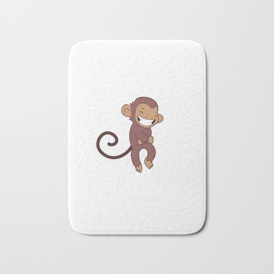 Laughing monkey Bath Mat