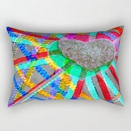 Multi Heart Rays 1 Rectangular Pillow