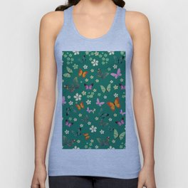 New Watercolour Butterflies XIV (colorful butterflies) Unisex Tank Top