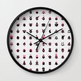 100 freaky friends family Wall Clock