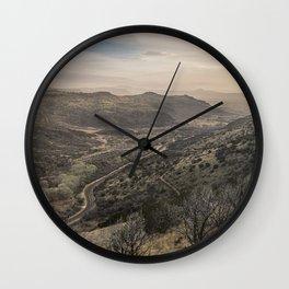 Fort Davis Scenic Overlook near Marfa, TX  Wall Clock