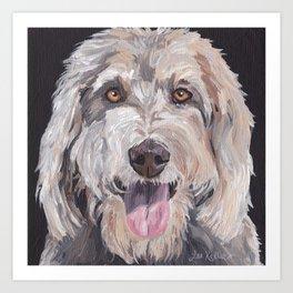 Golden Doodle Art,  Labradoodle art, Doodle dog art Art Print