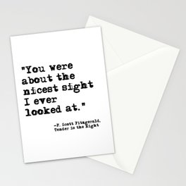 The Nicest Sight ― Fitzgerald quote Stationery Cards