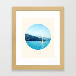 On the list Framed Art Print