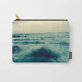 Waves crashing against rocks | Beach Carry-All Pouch