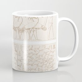 Capitals of the Dromos Gallery in Philae from Histoire de lart egyptien (1878) by Emile Prisse dAven Coffee Mug