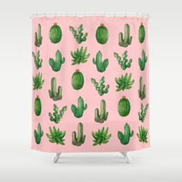 NEW Cactus PinK!! Shower Curtain