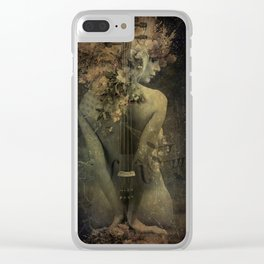 Sounds of silence Clear iPhone Case
