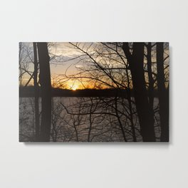Sunset Over Lake 2 Metal Print