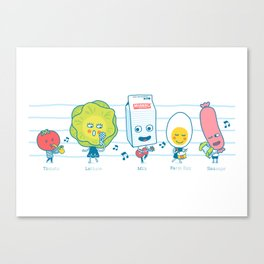 The Breakfast Song Canvas Print