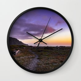 Dry Lagoon Sunset Wall Clock